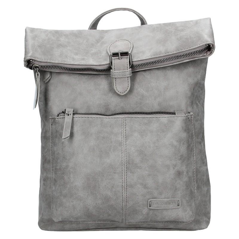 Moderní dámský batoh Enrico Benetti Nicolls - šedá