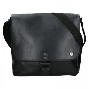 Pánská kožená taška 2JUS Stone 2 - černá