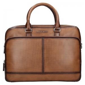 Pánská kožená taška přes rameno Bugatti Anreas - hnědá