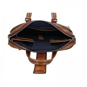 Pánská kožená taška přes rameno Bugatti Realon - hnědá