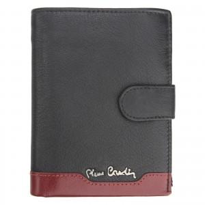 Pánská kožená peněženka Pierre Cardin Ferenca - červeno-černá