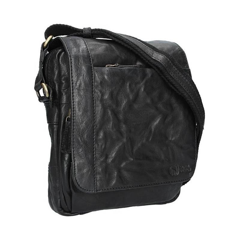 Pánská kožená taška přes rameno SendiDesign Timmy - černá