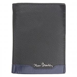 Pánská kožená peněženka Pierre Cardin - černo-modrá