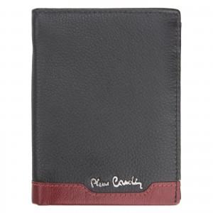 Pánská kožená peněženka Pierre Cardin Joe - černo-modrá