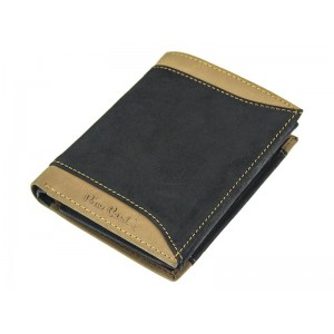 Pánská kožená peněženka Pierre Cardin Joe - černo-červená