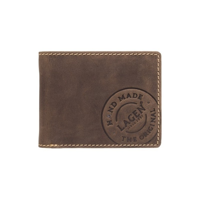 Pánská kožená peněženka Lagen Theodor - hnědá