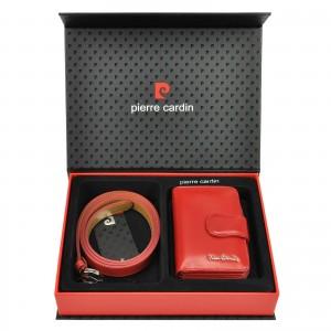 Luxusní dámská dárková sada Pierre Cardin Monica - červená