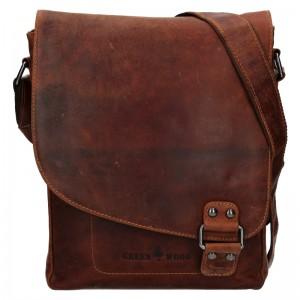 Pánská kožená taška přes rameno Greenwood Eithan - hnědá