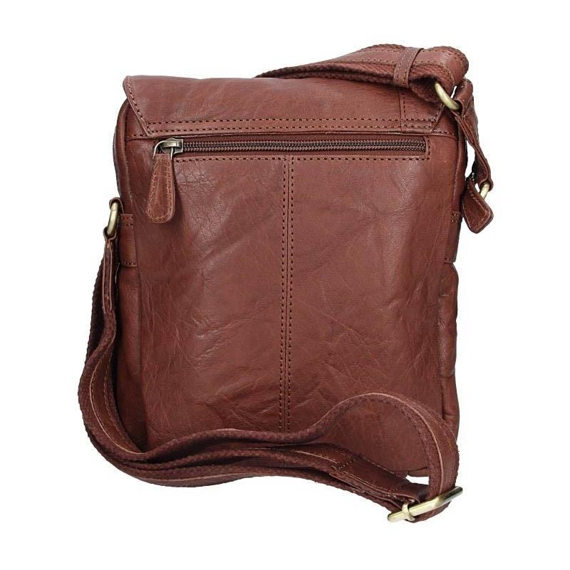 Pánská kožená taška přes rameno SendiDesign Timmy - tmavě hnědá