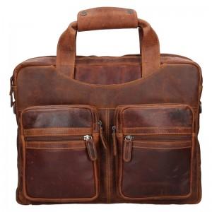 Pánská kožená taška přes rameno Greenwood Jason - hnědá