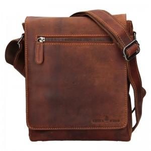 Pánská kožená taška přes rameno Greenwood Matthew - hnědá