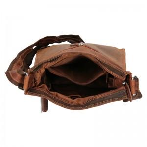 Pánská kožená taška přes rameno Greenwood Athan - hnědá