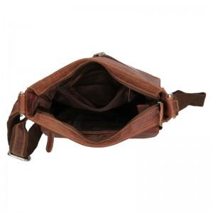 Pánská kožená taška přes rameno Greenwood Jordan - hnědá