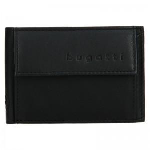 Pánská kožená dolarovka Bugatti Mauric - černá