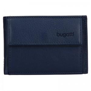 Pánská kožená dolarovka Bugatti Mauric - modrá