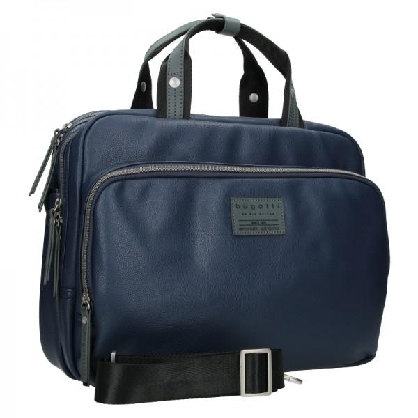 Pánská taška přes rameno Bugatti Moto DW - modrá