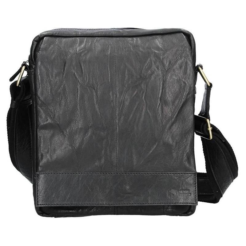 Pánská kožená taška přes rameno SendiDesign Vincent - černá