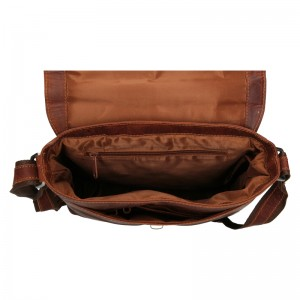 Pánská kožená taška přes rameno Greenwood Yuri - hnědá