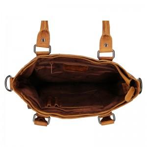Dámská kožená kabelka Greenwood Kirsty - hnědá