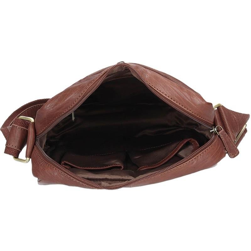 Pánská kožená taška přes rameno SendiDesign Vincent - tmavě hnědá
