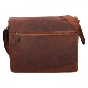 Pánská kožená taška přes rameno Greenwood Martin - hnědá