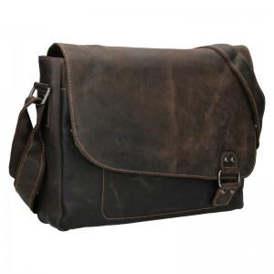 Pánská kožená taška přes rameno Greenwood Henry - hnědá
