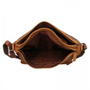 Pánská kožená taška přes rameno Greenwood Chris - hnědá