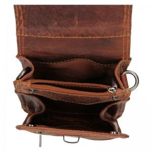 Pánská kožená taška přes rameno Greenwood Dan - hnědá