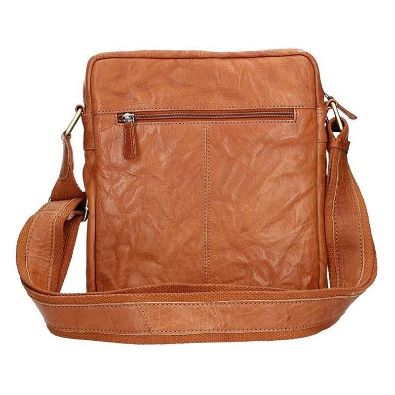 Pánská kožená taška přes rameno SendiDesign Vincent - světle hnědá