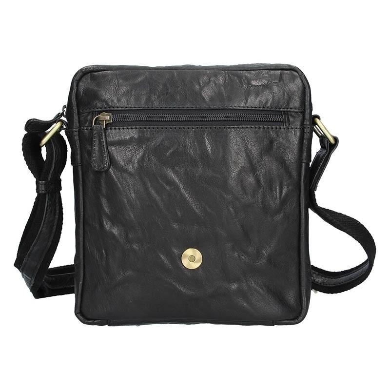 Pánská kožená taška přes rameno SendiDesign Apolon - černá