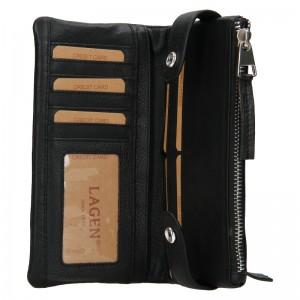 Dámská kožená peněženka Lagen Monica - černá