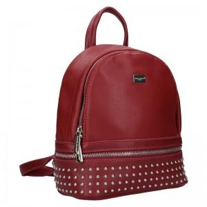 Módní dámský batoh David Jones Felion - vínová