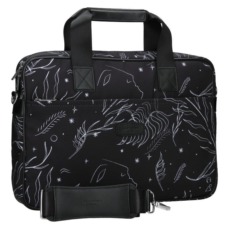 Dámská taška na notebook Hexagona Flow - černá