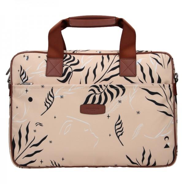 Dámská taška na notebook Hexagona Flow - růžová