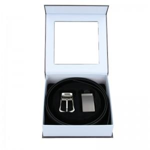Pánský kožený opasek Hexagona Marcus - černá