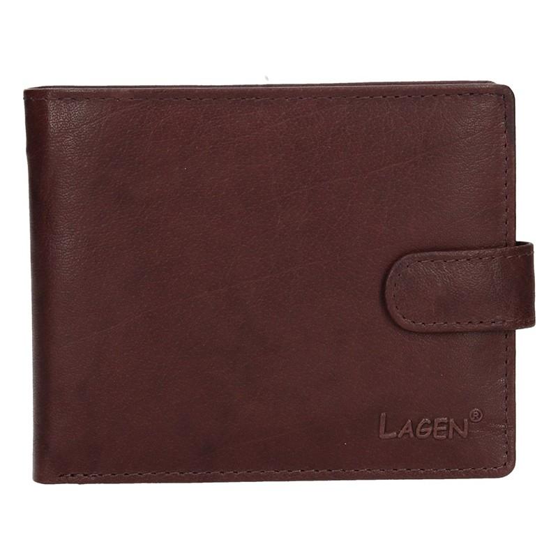 Pánská kožená peněženka Lagen Ivan - hnědá