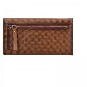 Dámská kožená peněženka Bugatti Fiona - hnědá