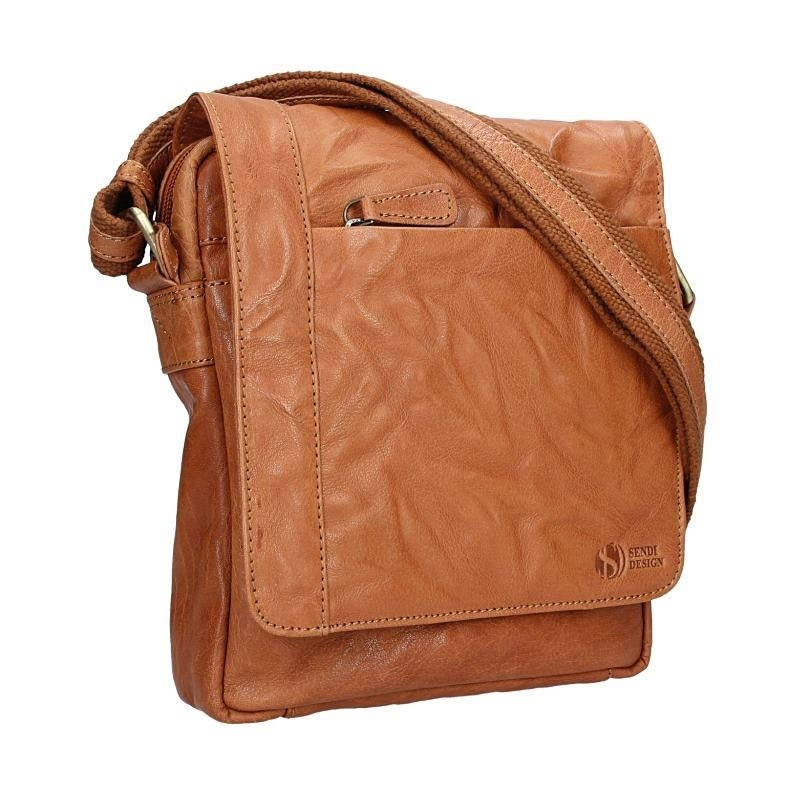 Pánská kožená taška přes rameno SendiDesign Apolon - hnědá