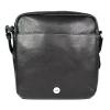 Pánská kožená taška přes rameno Hexagona 462547 - černá