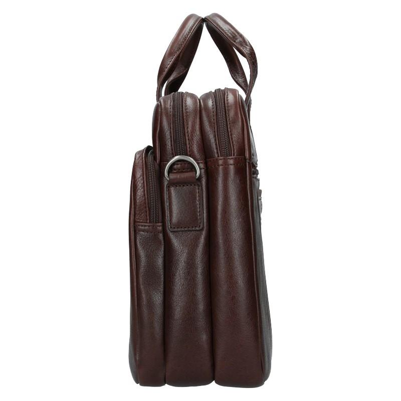 Pánská kožená taška přes rameno Hexagona Geraldo - hnědá