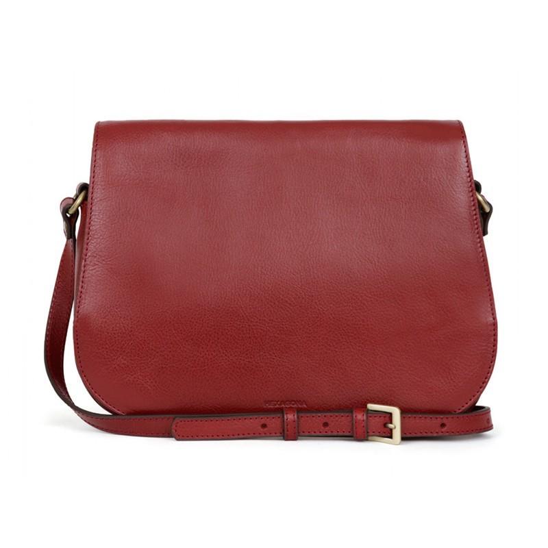 Dámská kožená kabelka Hexagona Giada - červená