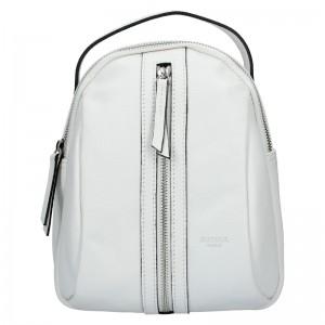 Menší dámský kožený batoh Ninnas Katana - bílá