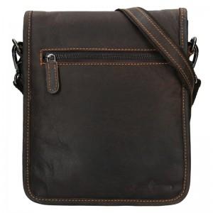 Pánská kožená taška přes rameno Greenwood David - tmavě hnědá