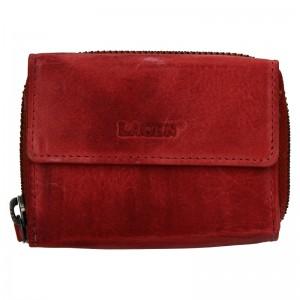 Dámská kožená peněženka Lagen Carmen - červená