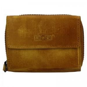 Dámská kožená peněženka Lagen Carmen - žlutá