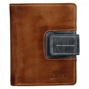 Dámská kožená peněženka Lagen Václava - hnědo-šedá
