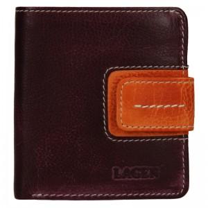 Dámská kožená peněženka Lagen Celesta - fialovo-oranžová