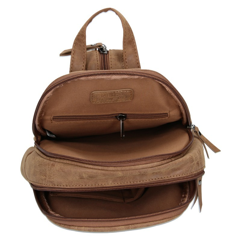 Moderní dámský batoh Enrico Benetti Zelda - hnědá