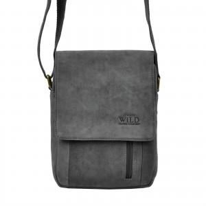 Pánská taška přes rameno Always Wild Janko - černo-šedá