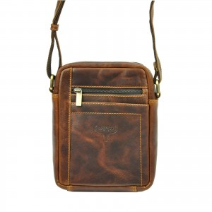 Pánská taška přes rameno Buffalo Wild Merro - hnědá